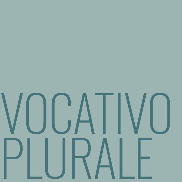 vocativo plurale