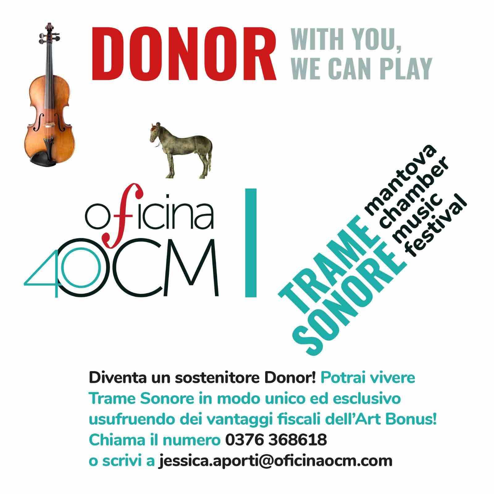 Come diventare un Donor: sostieni il Festival da protagonista!