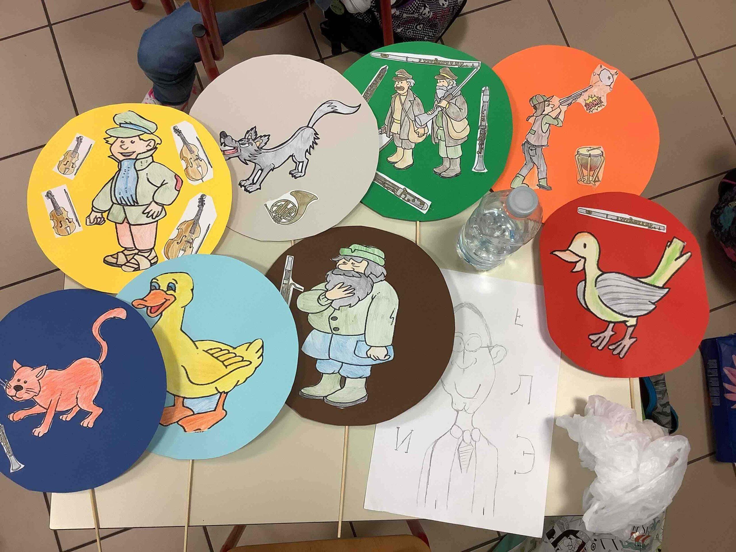 """""""Pierino e il lupo"""" disegnato dai bambini di Buscoldo"""